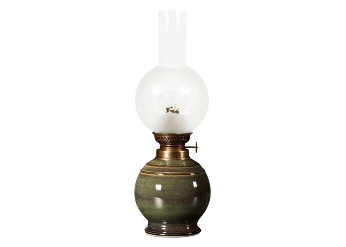 poterie artisanale sizorn lampe p trole en gr s pieds boule. Black Bedroom Furniture Sets. Home Design Ideas